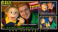 Andrea Fratellini with NIK puppet.
