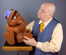 Neale Bacon with BEAVER puppet.