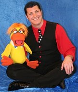 Glenn Hamilton with Duck puppet .