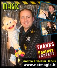 Andrea Fratellini with BABY puppet.
