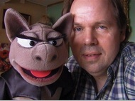 Ventriloquist Gustav Koi (Norway) with the BAT puppet.