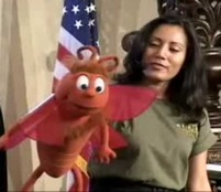 Yoly Pacheco with BUTTERFLY puppet