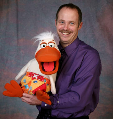 Tom Crowl with DUCK puppet.